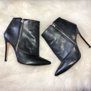 Alice + Olivia Cuffed Ankle Zip Up Boots